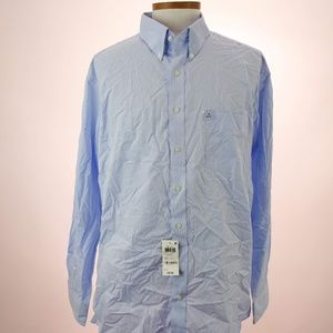 Club Room Men's Light Blue Long Sleeve Dress Shirt
